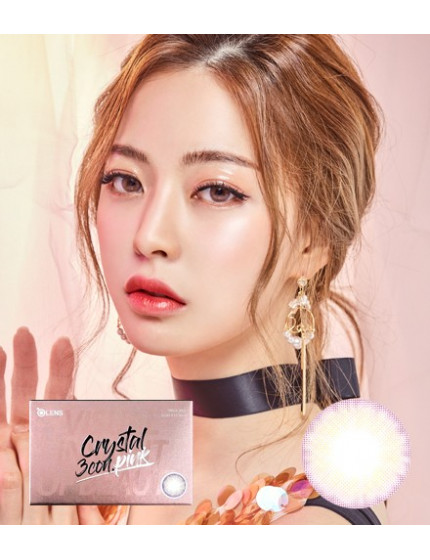Crystal 3 Pink (1 month/2pc/box) 크리스탈 3콘 핑크