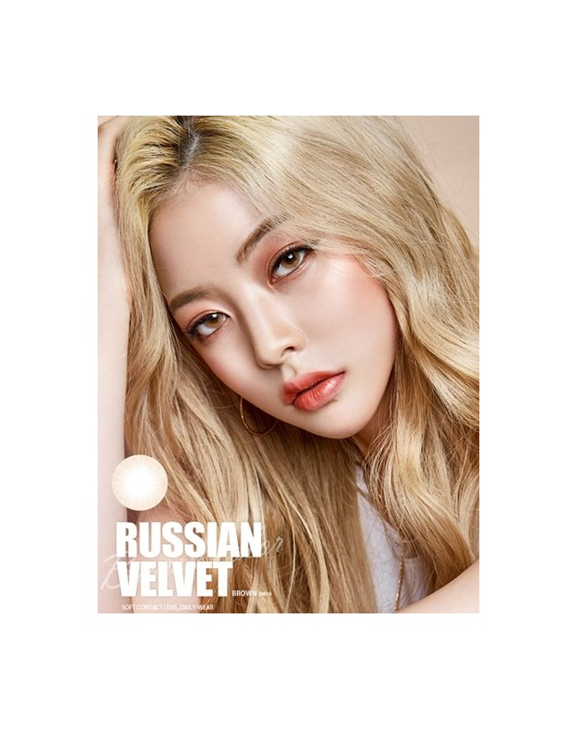 RUSSIAN Velvet Brown (1 month/ 2pc/box)러시안벨벳 브라운