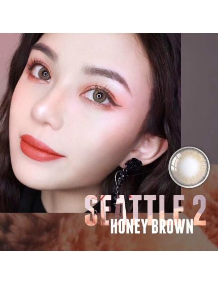 I-DOL SEATTLE 2 HONEY BROWN (12 months/1 lens/box)