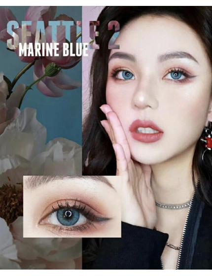 I-DOL SEATTLE 2 MARINE BLUE (12 months/1 lens/box)