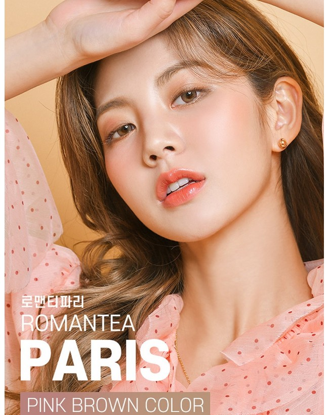 Romantea Paris Pink Brown (1 month/2 lens/box)