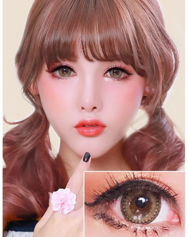 Lacy Love Clear Brown (12 months/1 lens/vial)