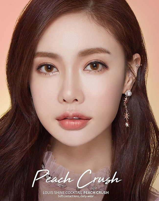 Cocktail Peach Crush Brown Silicone Hydrogel (1 month/2 lens/box)