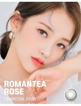 Romantea Rose Charcoal Grey Silicone Hydrogel (12 months/1 lens/box)