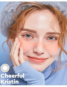 Cheerful Kristin Blue PC Silicone Hydrogel (1 month/2 lens/box)