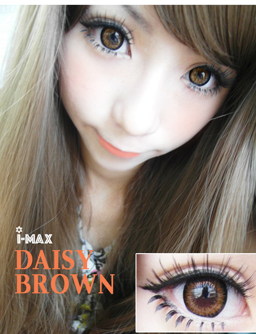 Daisy Brown 12 Months 1 Lens Vial The latest version daisy brown 2 tones color contacts, light color match bring you fresh spring. usd